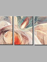 cheap -Oil Painting Hand Painted - Abstract Artistic Abstract Modern / Contemporary Canvas