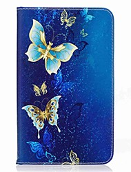 cheap -Butterfly Pattern Card Holder Wallet with Stand Flip Magnetic PU Leather Case for Samsung Galaxy Tab A 7.0 T280 T285 7.0 inch Tablet PC