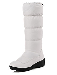 cheap -Women's Shoes Leatherette Spandex Fabric Winter Fall Snow Boots Fur Lining Boots Round Toe Mid-Calf Boots Ruffles Gore for Casual Dress
