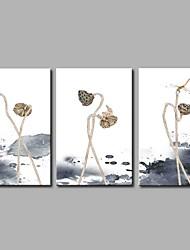 preiswerte -lotus 3-teilig moderne kunstwerk wandkunst für raumdekoration 20x28inchx3