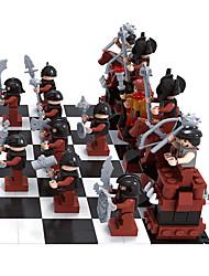 baratos -AUSINI Blocos de Construir / Jogo de Xadrez 1142pcs Pessoas Faça Você Mesmo Para Meninos Dom