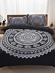cheap -Duvet Cover Sets Geometric 3 Piece Polyester Reactive Print Polyester 3pcs (1 Duvet Cover, 2 Shams)