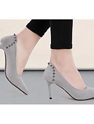preiswerte -Damen Schuhe Nubukleder Frühling Herbst Pumps High Heels Für Normal Schwarz Grau Burgund