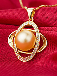 Women's Pendant Necklaces Pearl Irregular Pearl Sterling Silver Imitation Pearl Pink Pearl Gold Pearl Friendship Sexy Jewelry For