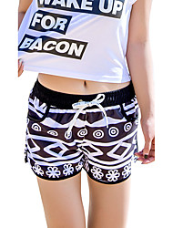 cheap -Women's Bottoms - Multi Color, Print Board Shorts