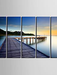 preiswerte -Fünf Panele Leinwand Vertikal Druck Wand Dekoration For Haus Dekoration