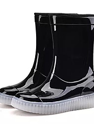 cheap -Boys' Shoes PVC Leather Spring Fall Rain Boots Boots Mid-Calf Boots For Casual Blushing Pink Blue Green Red Black