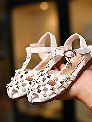 preiswerte -Mädchen Schuhe Kunstleder Sommer Schuhe für das Blumenmädchen Sandalen Für Normal Weiß Rosa