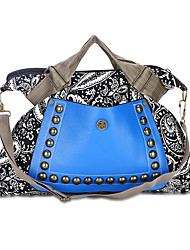 cheap -Women's Bags Canvas Tote Beading Zipper for Shopping Casual All Seasons Blue