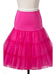 cheap -Wedding Halloween Carnival Bridal Shower Party/Cocktail Slips Organza Knee-Length Skirts With