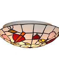 cheap -Diameter 30cm Tiffany Ceiling Light Glass Shade Living Room Bedroom Dining Room Flush Mount