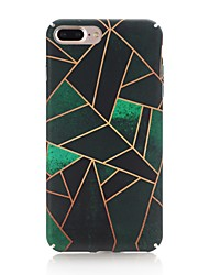 Coque Pour Apple iPhone X iPhone 8 Dépoli Motif Coque Arrière Formes Géométriques Dur Polycarbonate pour iPhone X iPhone 8 Plus iPhone 8
