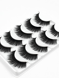 abordables -5 Maquillage Quotidien Cils Entiers Epais Longs Naturels Accessoires de Maquillage Haute qualité Quotidien
