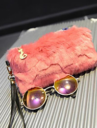 cheap -Women's Bags Fur Clutch Zipper Black / Blushing Pink / Dark Blue