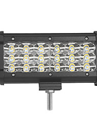 4шт 54w 5400lm 6000k 3-рядные светодиодные светильники с подсветкой для холодного белого света внедорожника для автомобиля / лодки / фары