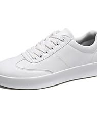 Недорогие -Для мужчин обувь Резина Весна Осень Удобная обувь Кеды Шнуровка Назначение Белый Черный Красный