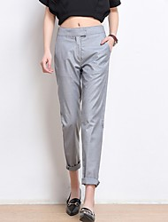 cheap -Women's Mid Rise Micro-elastic Skinny Loose Chinos Business Pants,Casual Solid Fall