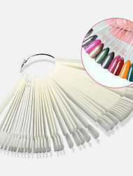 cheap -50Pcs False Nail Display Fan Board Nail Art Tips Decoration Practice Round Hoop Tool