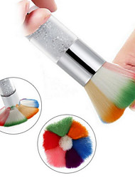 cheap -1pc Colorful Nail Dust Brushes Powder Nail Art Design Dust Remover Brush Cleaner Makeup Tool