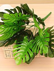 economico -46cm 1 pc 12 rami / pc decorazione domestica artificiale foglie di monstera delle piante verdi