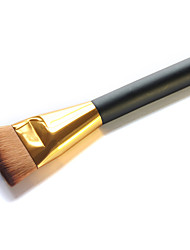1pc 2 Colors Foundation Brush Synthetic Hair Face/Contour Brush/Gold or Silvery/Cosmetic Makeup Makeup Tools for Face Makeup