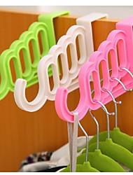 baratos -porta ganchos multi-usos vestuário não-rastreamento volta vestuário gancho gancho ramdon cor