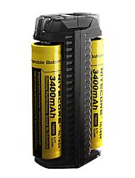 Недорогие -Nitecore F2 Зарядное устройство для Литиевая батарея Портативные, Легкий вес, Простота транспортировки, Быстрая зарядка 10440,14500,16340 (RCR123), 17335,17500,17670,18490,18650,26650