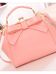 cheap -Women Bags PU Shoulder Bag Zipper for Casual All Seasons White Black Blushing Pink