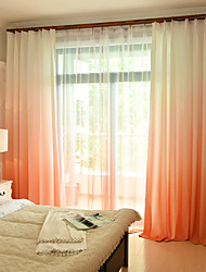 Rod Pocket Grommet Top Tab Top Double Pleated Pencil Pleated Curtain European , Color Block Bedroom Material Curtains Drapes Home