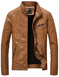 cheap -Men's Vintage Plus Size Jacket - Solid Stand