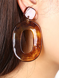 Women's Drop Earrings Hoop Earrings Acrylic Sexy Oversized Acrylic Oval Jewelry For Party Formal