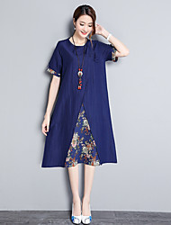 cheap -Women's Chic & Modern A Line Dress - Solid Color, Print