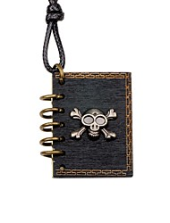 cheap -Men's Women's Locket Skull Shape DIY Fashion Pendant Necklace Wood Alloy Pendant Necklace Party Going out