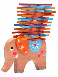 baratos -Blocos de Construir / Blocos Lógicos / Blocos de Montar de Madeira Elefante / Família / Amigos Equilíbrio 40pcs Crianças