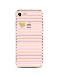 cheap -Case For iPhone X iPhone 8 Transparent Pattern Back Cover Lines / Waves Heart Glitter Shine Soft TPU for iPhone X iPhone 8 Plus iPhone 8