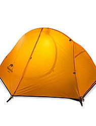 Недорогие -Naturehike 1 человек Туристические палатки На открытом воздухе Водонепроницаемость Дожденепроницаемый Хорошая вентиляция Двухслойные зонты Палатка для Рыбалка Пляж  Походы Фиберглас