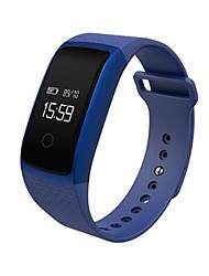 Муж. Модные часы электронные часы Цифровой Пульсомер Педометр силиконовый Группа Черный Белый Синий Золотистый