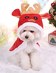 cheap -Dog Coat Dog Clothes British Red Cotton Costume For Pets Christmas