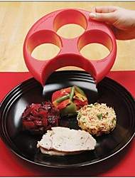 cheap -Healthy Red Meal Measure Perfect Portion Weight Control Plate Diet Slimming Naturalize Manage