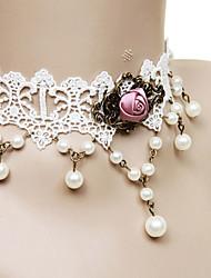 Lolita Jewelry Classic Lolita Dress Necklace Princess Women's White Lolita Accessories Lace Necklace Lace Alloy