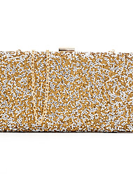 cheap -Women's Bags Polyester Evening Bag Sequin for Wedding Event/Party All Seasons Gold Black Silver Black Grey Black/White