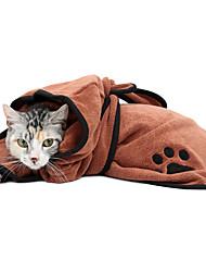 Chat Pyjamas Vêtements pour Chien Décontracté / Quotidien Robe Convertible Guêtres Solide Marron Bleu Costume Pour les animaux domestiques