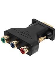 Недорогие -cwxuan 15 контактный VGA мужчин и 3 RCA женский CompoNet RGB адаптируются подключения преобразователя