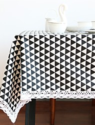 Rectangular Square Geometric Table cloths , Linen / Cotton Blend Material Table/Desk Home Hotel Dining Table Table Decoration Home
