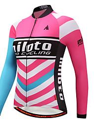 economico -Miloto Per donna Manica lunga Maglia da ciclismo - Blu+Rosa Bicicletta Maglietta / Maglia