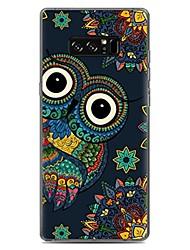 """economico -Custodia Per Fantasia/disegno Custodia posteriore Fantasia """"Gufo"""" Morbido TPU per Note 8 Note 5 Edge Note 5 Note 4 Note 3 Lite Note 3"""