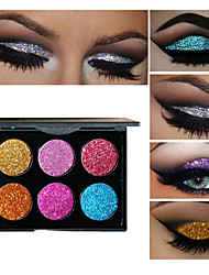 preiswerte -6 Lidschattenpalette Lidschatten-Palette Alltag Make-up Halloween Make-up Party Make-up Cateye Makeup Smokey Makeup