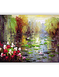 cheap -Hand-Painted Landscape Horizontal Panoramic,Others One Panel Canvas Oil Painting For Home Decoration