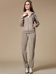 Per donna Reggiseno e pantaloni da corsa Manica lunga Morbidezza Pantaloni Set di vestiti Top per Corsa Pilates Jogging Velluto Tessuto