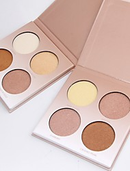 cheap -4 Concealer/Contour Highlighters/Bronzers Pressed Powder Matte Mineral Pressed powder Whitening Oil-control Long Lasting Natural